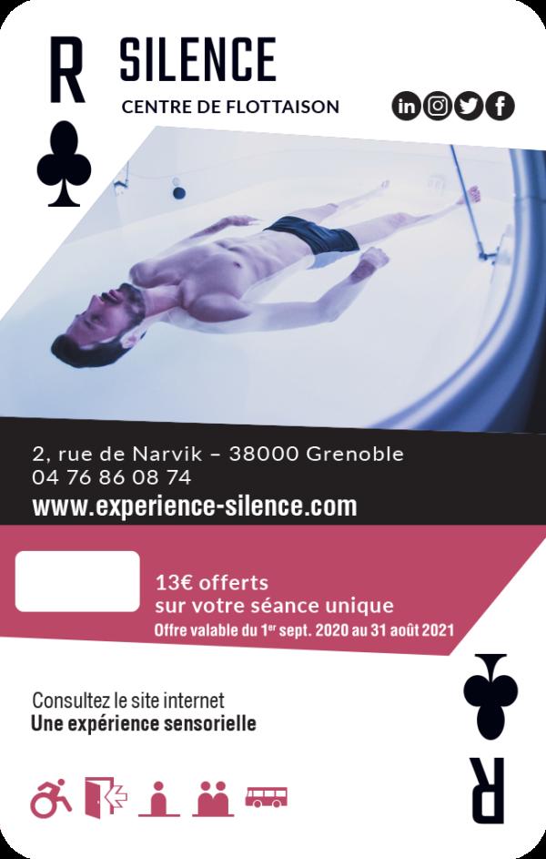 carte roi de trèfle Grenoble
